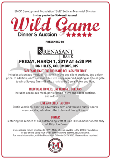 WIldgame Dinner