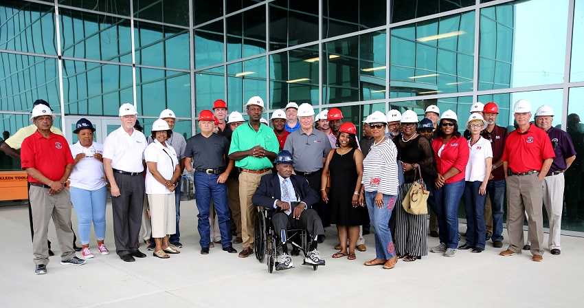 County supervisors from Clay, Kemper, Lauderdale, Lowndes, Noxubee and Oktibbeha counties toured East Mississippi Community College's Center for Manufacturing Technology 2.0 on Friday, July 27.